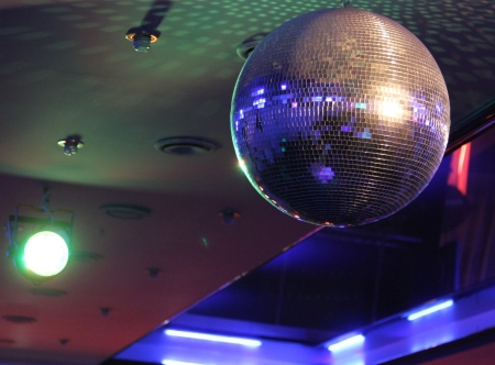 Disco ball light reflection background photo