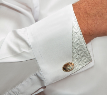 cuff links: Shirt with cuff links
