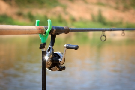 big game fishing reel and rod photo