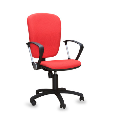elbow chair: The red office chair. Isolated