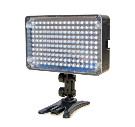 dimmer: Video lighting LED, isolated on white background