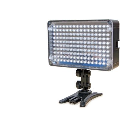 Video lighting LED, isolated on white  photo