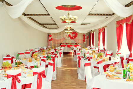 "Volgograd – September 29: Interior of restaurant, Banquet hall ""Castle"", Volgograd, Russia, Septamber 29.2012."