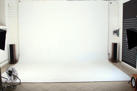 Interior of the modern photo studio photo