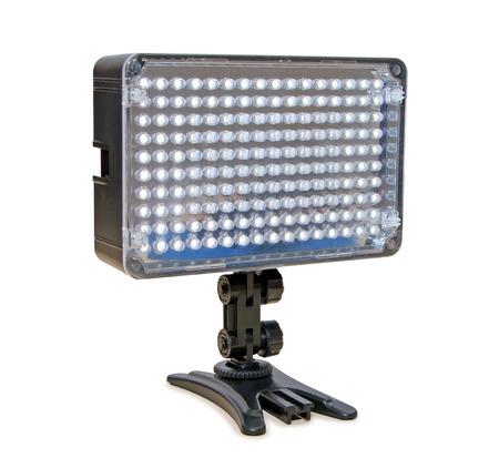 Video lighting LED, isolated on white background photo