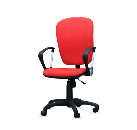 The red office chair. Isolated photo