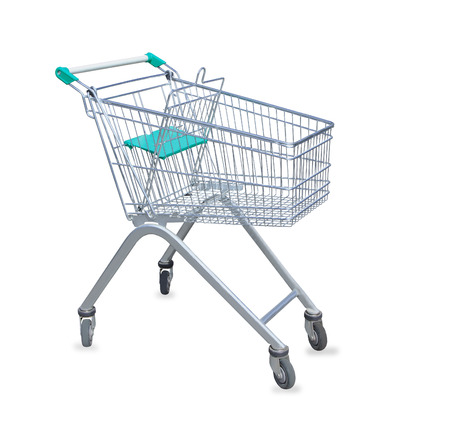 Shopping cart isolated over white photo