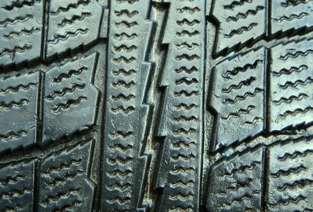 New winter tire closeup photo