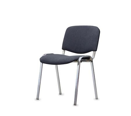 wheel chair: The gray office chair. Isolated Stock Photo