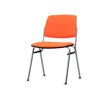 elbow chair: The orange office chair. Isolated Stock Photo