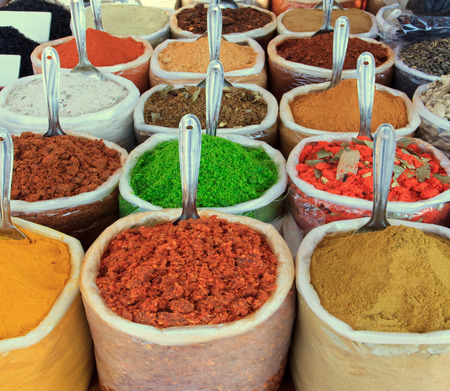 Assortment of powder spices photo