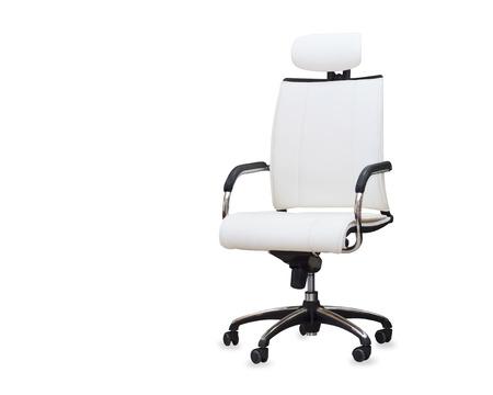 Sedia Da Ufficio Bianca.Immagini Stock Moderna Sedia Da Ufficio In Pelle Bianca Isolato