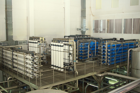 water filter: filter system at a large beer company