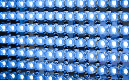 light emitting: Led panel in fluorescent light close up