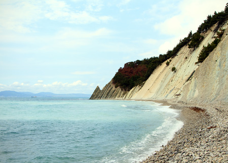 beaty: Sea Lagoon near Mountains at beaty sunny day Stock Photo