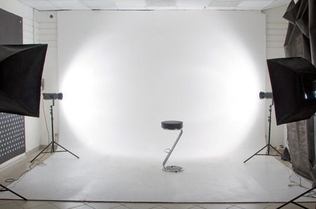 De moderne foto- en videostudio Stockfoto - 45608069