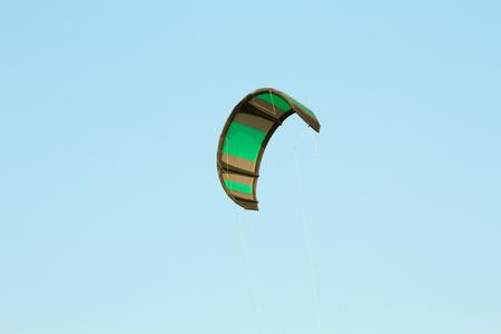 kitesurf: The kitesurf wing over blue sky