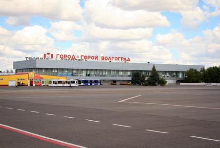 russian federation: Volgograd, Russian Federation, August 07,2015:  Airport terminal in Volgograd city.