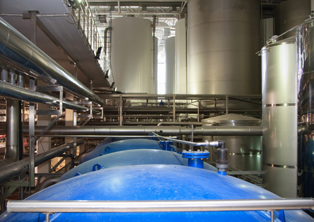 desalination: Moscow, Russian Federation, March 07, 2015: filter system at a large beer company, Moscow Brewing Company.