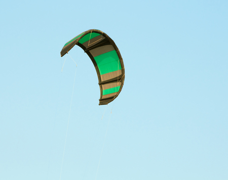 kitesurf: kitesurf wing over blue sky