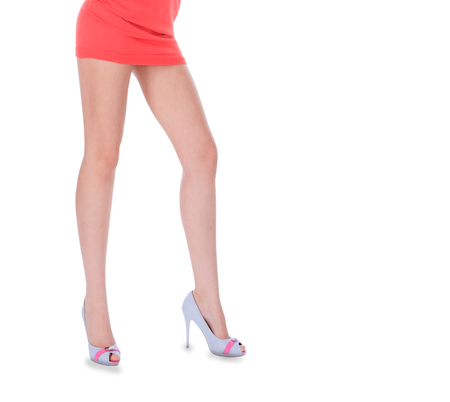 high heeled shoes: Beauty long woman legs in high heeled shoes