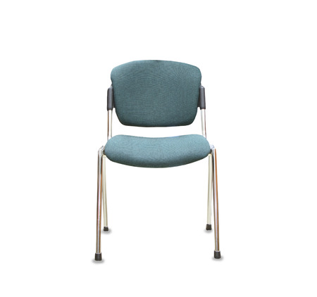 elbow chair: Modern office chair from green cloth over white