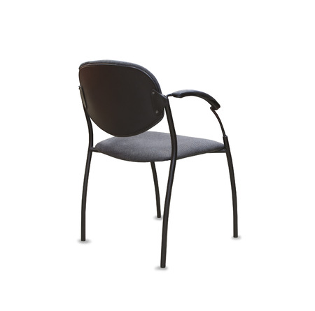 elbow chair: Back view of modern office chair from gray cloth
