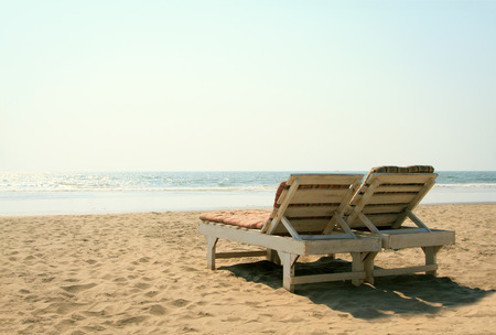 two chairs: Two chairs on the beach