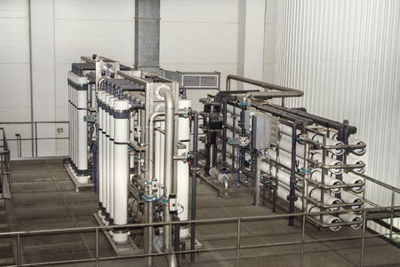desalination: filter system at a large beer company