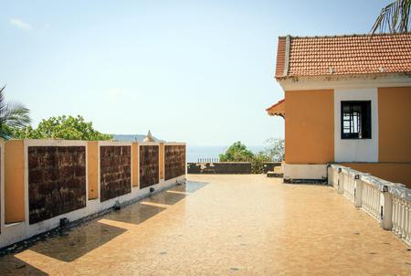 maharashtra: Goa, India - March 03, 2015: fortress Tiracol at summer day.