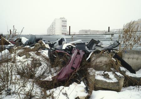 discarded: Large garbage dump waste Stock Photo
