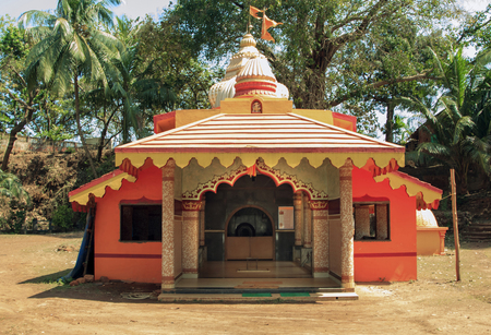 India, Goa - March 03, 2015:Tiracol TEMPLE