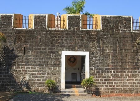 loophole: Goa, India - March 03, 2015: fortress Tiracol at summer day.