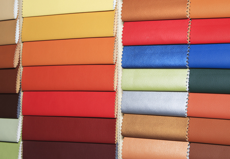 stitched: Color guide of leather close up