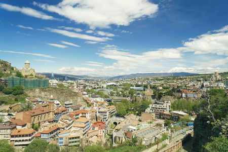 View from the hill to Tbilisi City