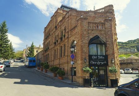 Tbilisi, Georgia - April 25, 2017: Old Tiflis restaurant in the center of Tbilisi