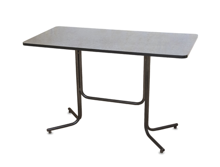 Kitchen table isolated over white background Archivio Fotografico