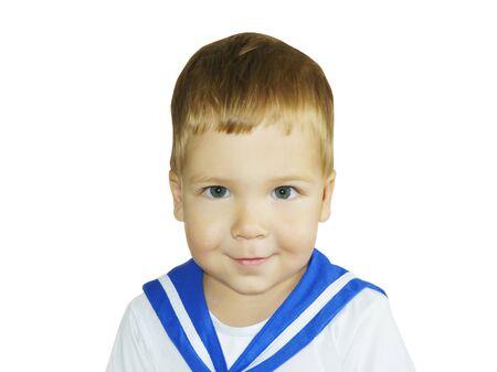 Handsome little boy in sailor suit