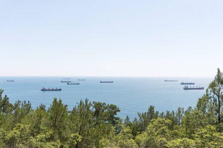 Oil tanker sailing in the sea