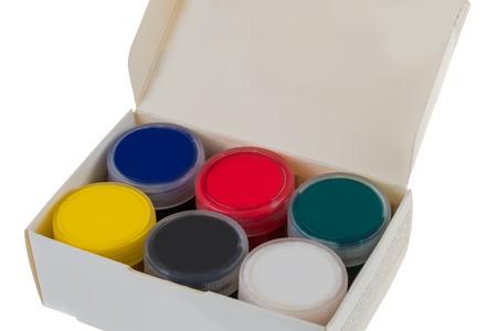 paint box: paint, box, bright colors Stock Photo