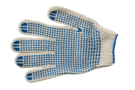 white glove: White glove with rubber construction Stock Photo
