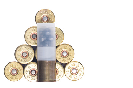 Ammunition for love lie in heap on white background isolated Stock Photo