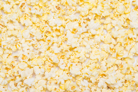 texture of fried popcorn, close-up, as a background to write Stock Photo