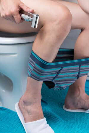 hygiene after handling the toilet with a bidet and shower Stockfoto