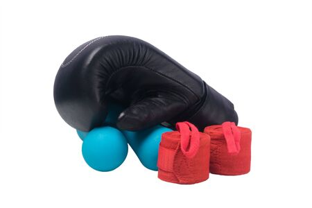 boxing stuff concept isolated on white background