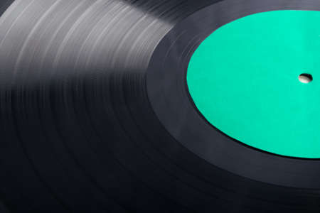 background of old vinyl record, side view close up Stockfoto