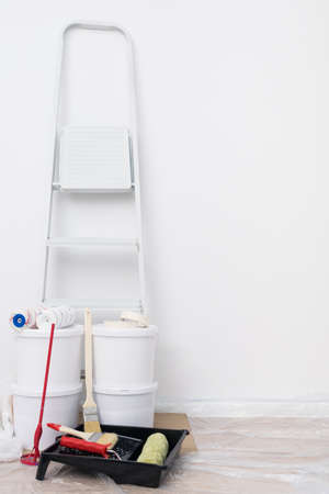folding ladder and things for apartment renovation