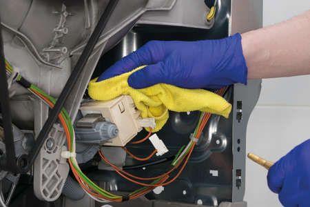 maintenance and cleaning of the complex mechanism of electrical components