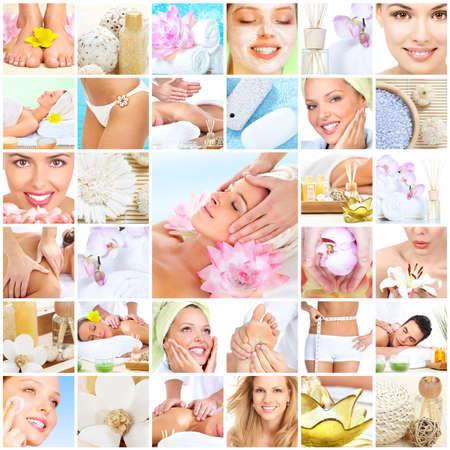 aseo personal: Hermosa joven obtener masaje spa. Tratamiento corporal. Foto de archivo