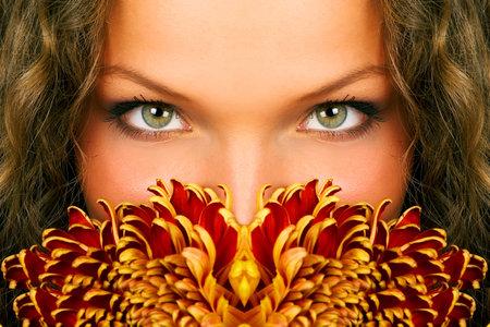 mysteus woman eyes Stock Photo - 595603